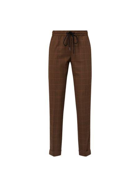 Brązowe spodnie z wiskozy Rosner