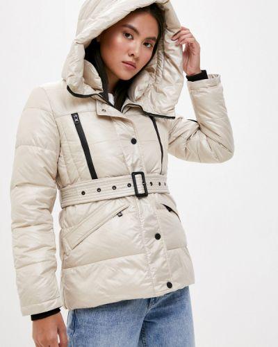 Бежевая теплая утепленная куртка Liana