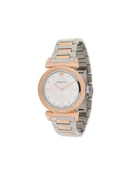 Zegarek kwarcowy szary do twarzy Versace