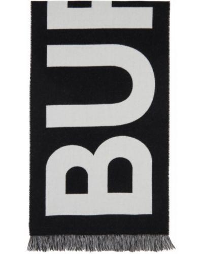 Czarny szalik wełniany Burberry