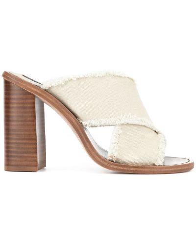 Мюли на каблуке белый Senso