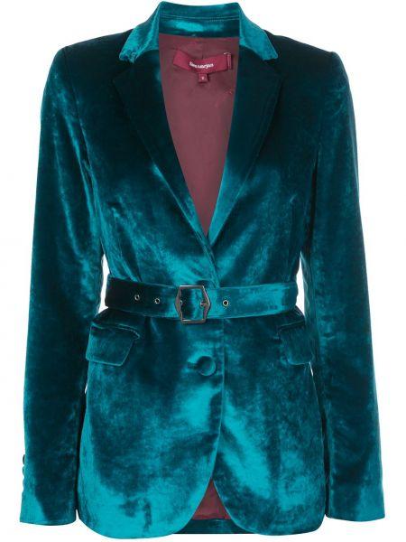Бирюзовый пиджак с карманами из вискозы с лацканами Sies Marjan