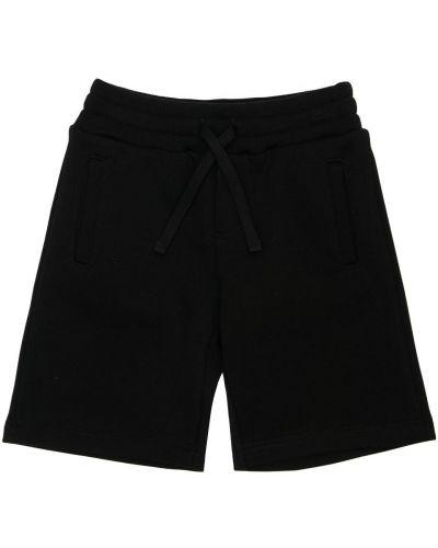 Bawełna bawełna czarny szorty z kieszeniami Dolce And Gabbana