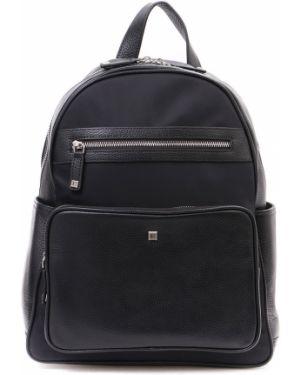 Кожаный рюкзак на молнии нейлоновый Eleganzza