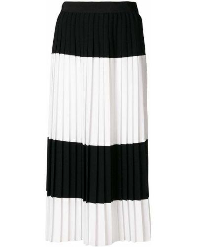 Черная плиссированная юбка Mantu