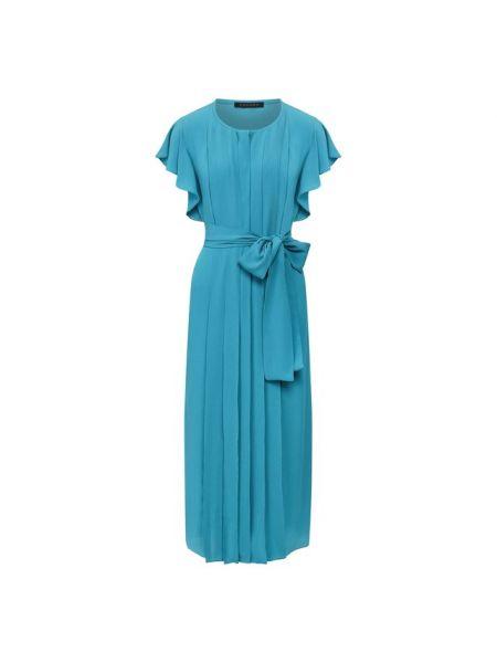 Шелковое платье с поясом Escada