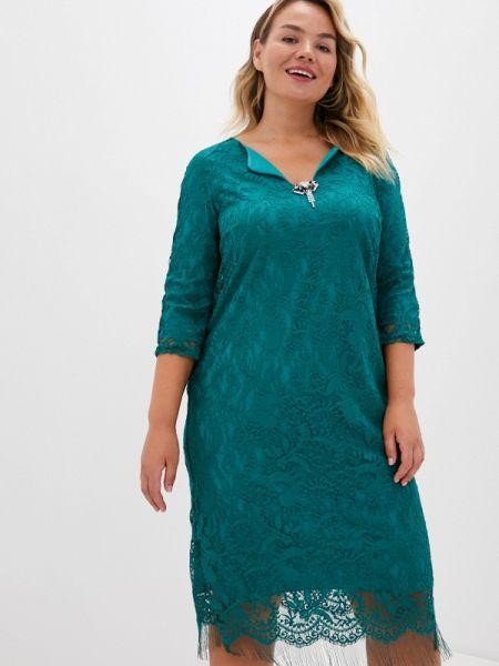 Вечернее зеленое вечернее платье Blagof