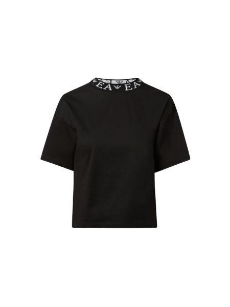 Czarny t-shirt bawełniany Emporio Armani