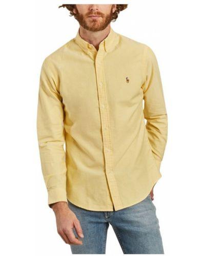 Koszula oxford bawełniana z długimi rękawami zapinane na guziki Polo Ralph Lauren