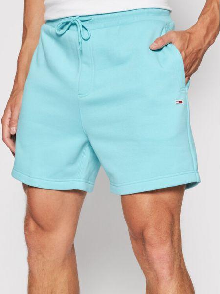 Niebieskie szorty na plażę Tommy Jeans