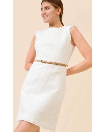 Sukienka bawełniana z paskiem bez rękawów Orsay