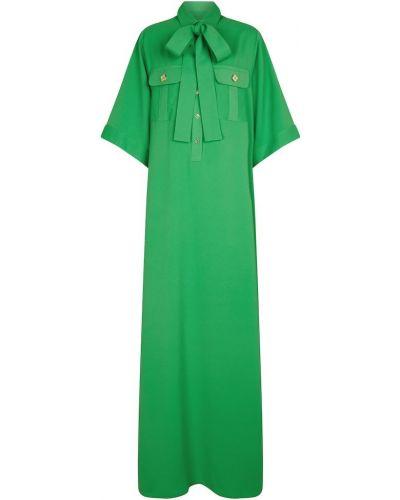 Зеленое платье макси Elie Saab