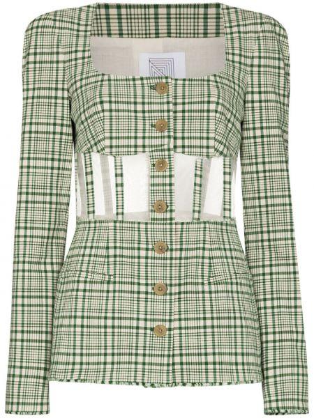 Пиджак в клетку - зеленый Rosie Assoulin