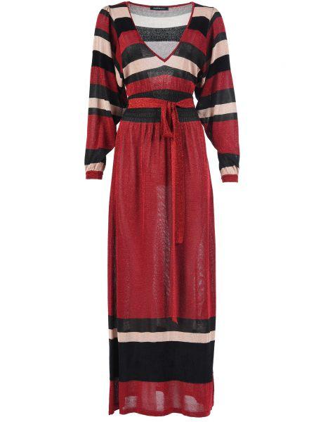 Платье из вискозы - красное Mangano