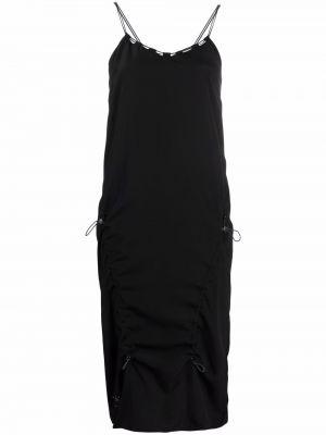 Шелковое платье миди - черное Mcq