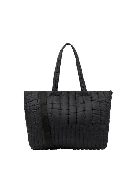 Czarna torba na zakupy materiałowa Ichi