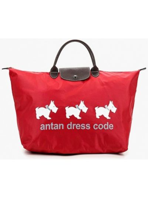 Красная дорожная сумка Antan