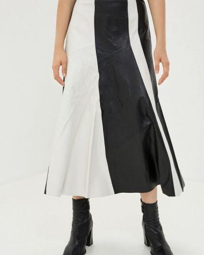 Черная кожаная юбка Topshop