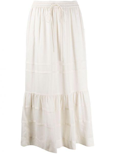 Шелковая юбка с высокой посадкой Coach