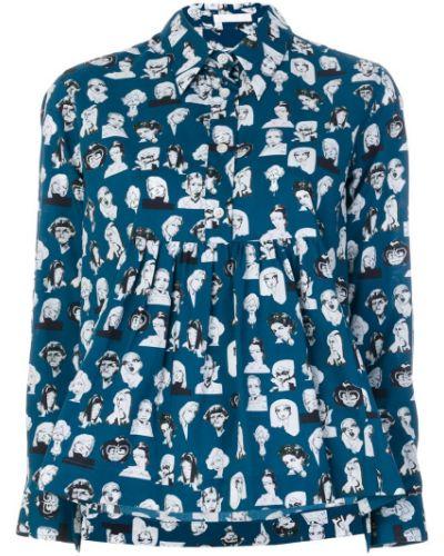 Рубашка хлопковая с принтом Peter Jensen