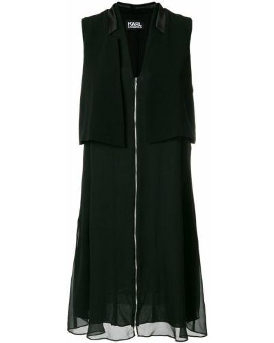 Платье без рукавов из полиэстера шелковое Karl Lagerfeld