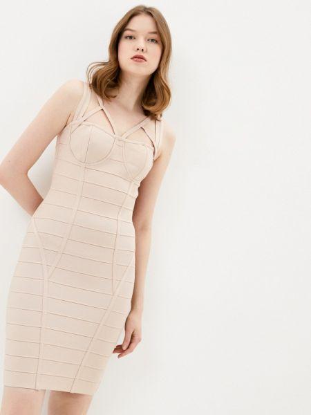 Платье футляр розовое Soky & Soka