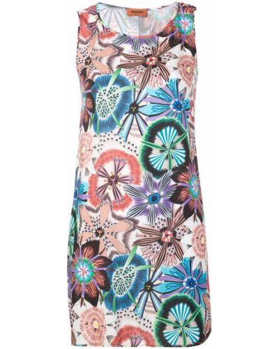 Платье с цветочным принтом с вырезом Missoni