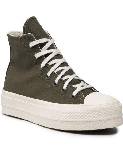 Półbuty casual - zielone Converse