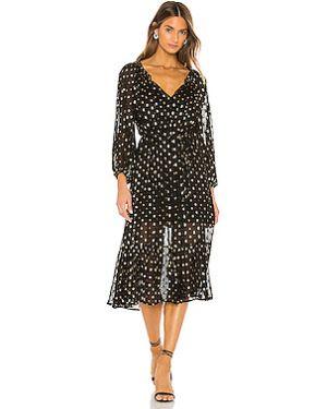 Платье миди из вискозы с люрексом Cleobella