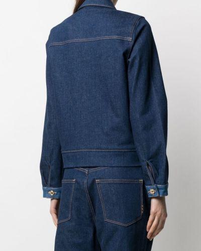 С рукавами синяя джинсовая куртка с воротником Scotch & Soda