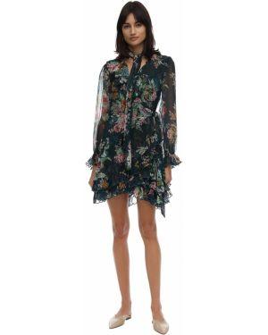 Платье мини шелковое с цветочным принтом Zimmermann