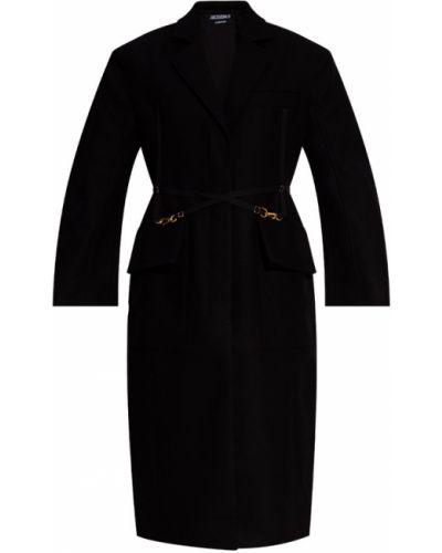 Płaszcz z paskiem - czarny Jacquemus