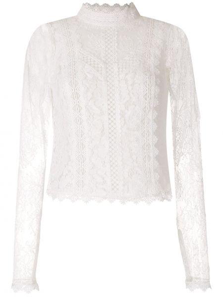 Белая блузка прозрачная с воротником Martha Medeiros