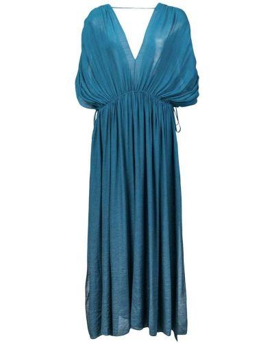Платье с поясом с открытой спиной бандо Juan Carlos Obando