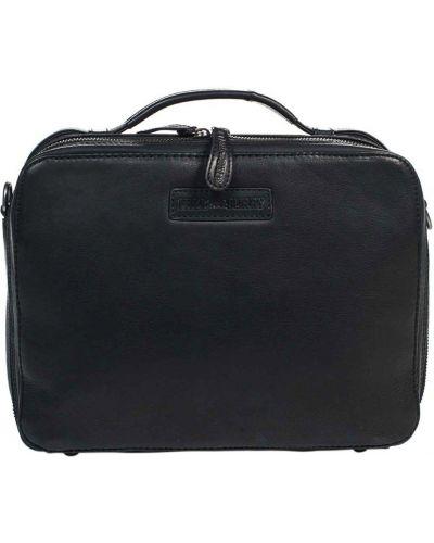 Кожаная сумка - черная Hill Burry