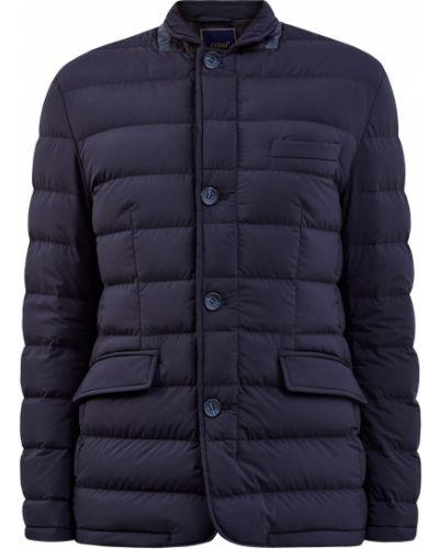 Утепленная синяя куртка с воротником Cudgi