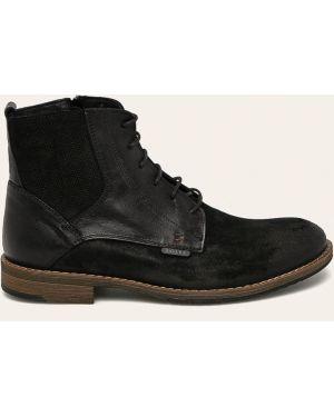 Buty skórzane czarne Badura