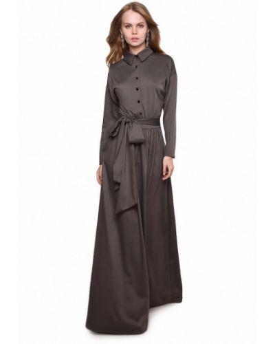 Повседневное платье серое весеннее Marichuell