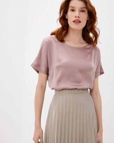 С рукавами бежевая блузка Арт-Деко
