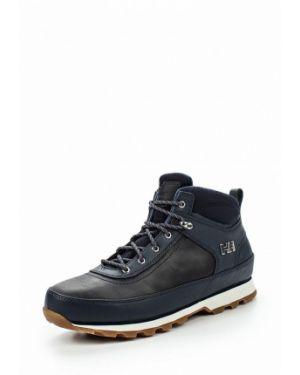 Ботинки осенние синий кожаные Helly Hansen
