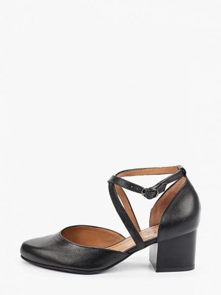 Черные кожаные туфли из натуральной кожи Belwest
