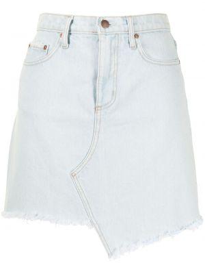 Асимметричная хлопковая синяя джинсовая юбка Nobody Denim