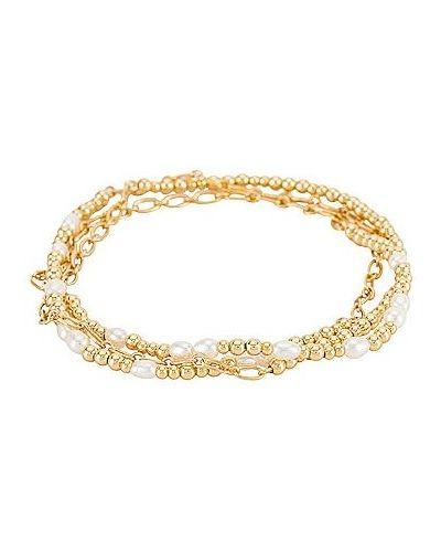 Złota bransoletka pozłacana perły Kendra Scott