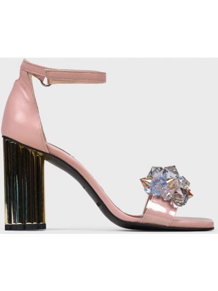 Кожаные босоножки - розовые Helena Soretti