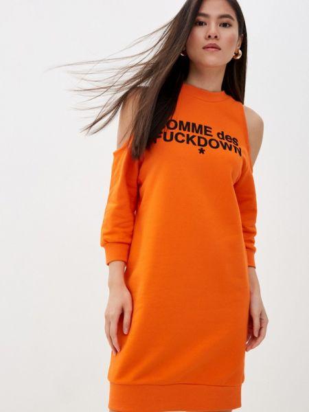 Оранжевое платье Comme Des Fuckdown