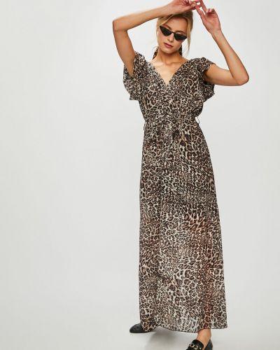 Платье с поясом с запахом макси Answear