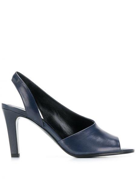 Сандалии на каблуке синий Michel Vivien