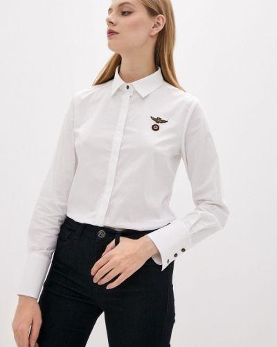 С рукавами белая рубашка Aeronautica Militare