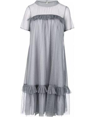 Вечернее платье серое свободного кроя Vera Moni