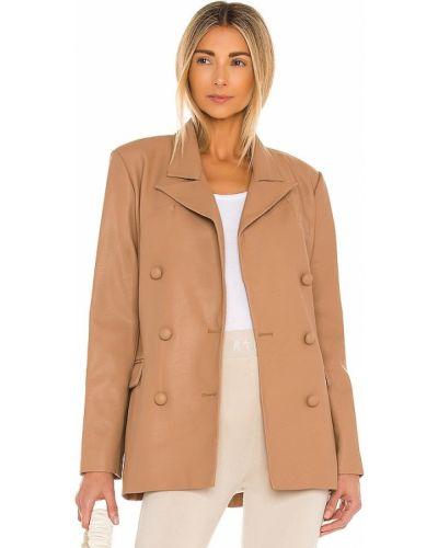 Светло-розовый кожаный пиджак с карманами [blanknyc]